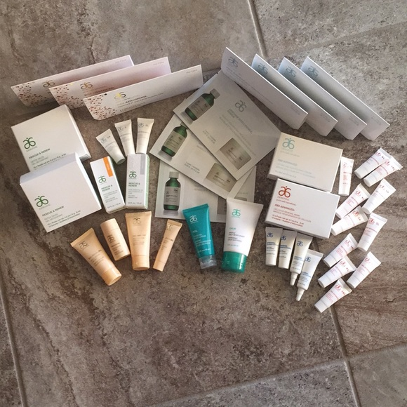 Lot of Arbonne Samples, kits, Travel Size Etc  NWT